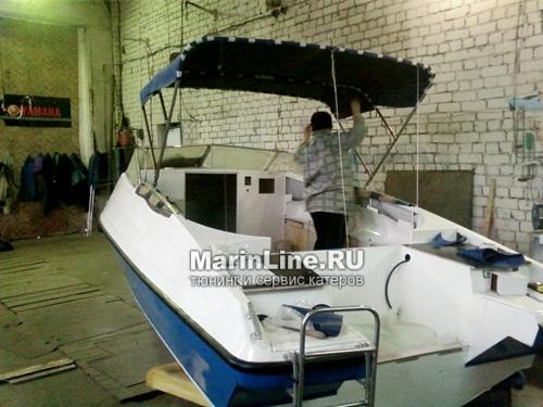 Биминитоп - тент на катере от солнца цена в компании «МаринЛайн». Ссылка на фотографию: http://marinline.ru/uploads/posts/2018-06/1528905381_biminitop-tent-na-katere-ot-solntsa-2.jpg