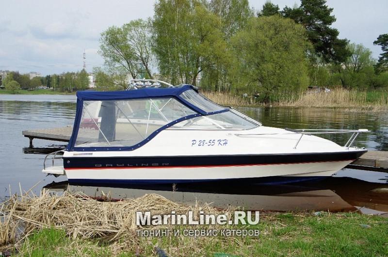 Ходовой тент на лодку и катер цена в компании «МаринЛайн». Ссылка на фотографию: http://marinline.ru/uploads/posts/2018-06/1528915627_hodovyie-tentyi-na-kater-hodovoy-tent-35.jpg