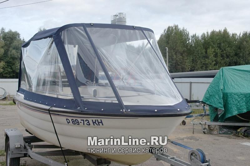 Ходовой тент на лодку и катер цена в компании «МаринЛайн». Ссылка на фотографию: http://marinline.ru/uploads/posts/2018-06/1528915627_hodovyie-tentyi-na-kater-hodovoy-tent-62.jpg