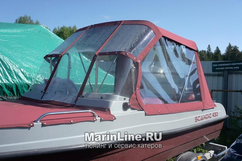Ходовой тент на лодку и катер цена в компании «МаринЛайн». Ссылка на фотографию: http://marinline.ru/uploads/posts/2018-06/1528915628_hodovyie-tentyi-na-kater-hodovoy-tent-60.jpg