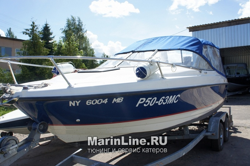 Ходовой тент на лодку и катер цена в компании «МаринЛайн». Ссылка на фотографию: http://marinline.ru/uploads/posts/2018-06/1528915629_hodovyie-tentyi-na-kater-hodovoy-tent-43.jpg