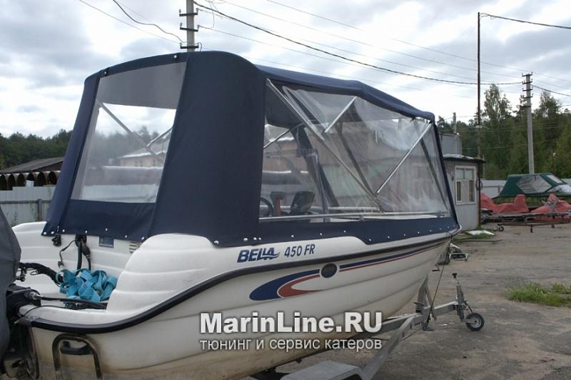 Ходовой тент на лодку и катер цена в компании «МаринЛайн». Ссылка на фотографию: http://marinline.ru/uploads/posts/2018-06/1528915632_hodovyie-tentyi-na-kater-hodovoy-tent-61.jpg