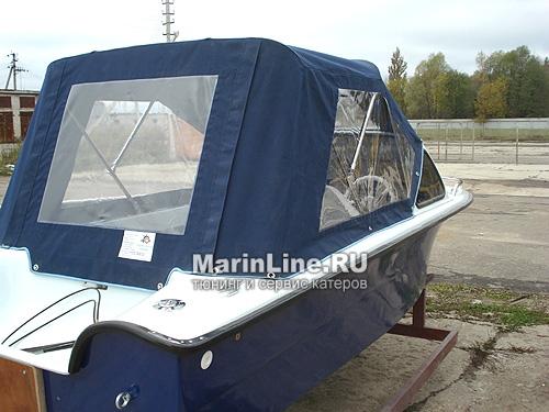 Ходовой тент на лодку и катер цена в компании «МаринЛайн». Ссылка на фотографию: http://marinline.ru/uploads/posts/2018-06/1528915639_hodovyie-tentyi-na-kater-hodovoy-tent-8.jpg