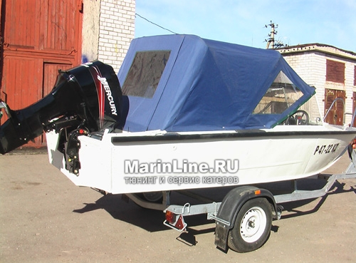 Ходовой тент на лодку и катер цена в компании «МаринЛайн». Ссылка на фотографию: http://marinline.ru/uploads/posts/2018-06/1528915644_hodovyie-tentyi-na-kater-hodovoy-tent-9.jpg