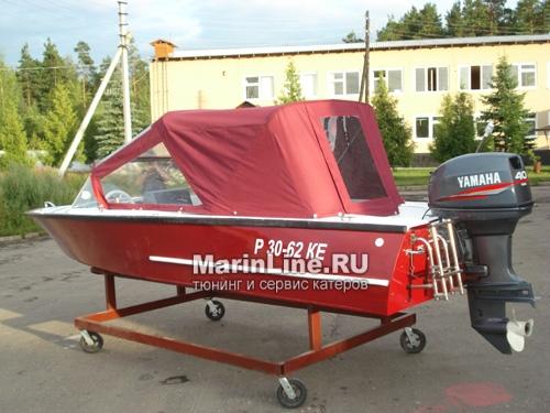Ходовой тент на лодку и катер цена в компании «МаринЛайн». Ссылка на фотографию: http://marinline.ru/uploads/posts/2018-06/1528915647_hodovyie-tentyi-na-kater-hodovoy-tent-2.jpg