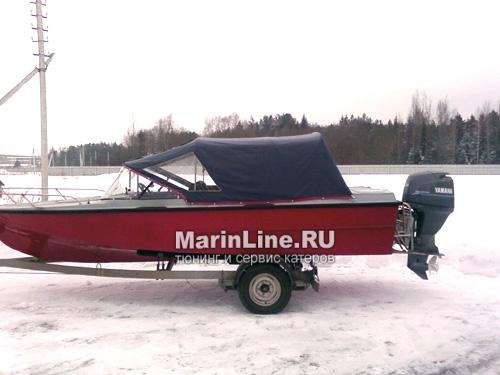 Ходовой тент на лодку и катер цена в компании «МаринЛайн». Ссылка на фотографию: http://marinline.ru/uploads/posts/2018-06/1528915648_hodovyie-tentyi-na-kater-hodovoy-tent-10.jpg