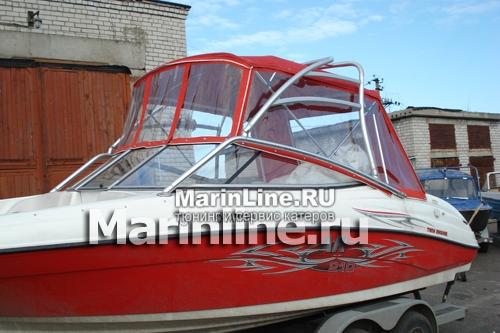 Ходовой тент на лодку и катер цена в компании «МаринЛайн». Ссылка на фотографию: http://marinline.ru/uploads/posts/2018-06/1528915651_hodovyie-tentyi-na-kater-hodovoy-tent-15.jpg