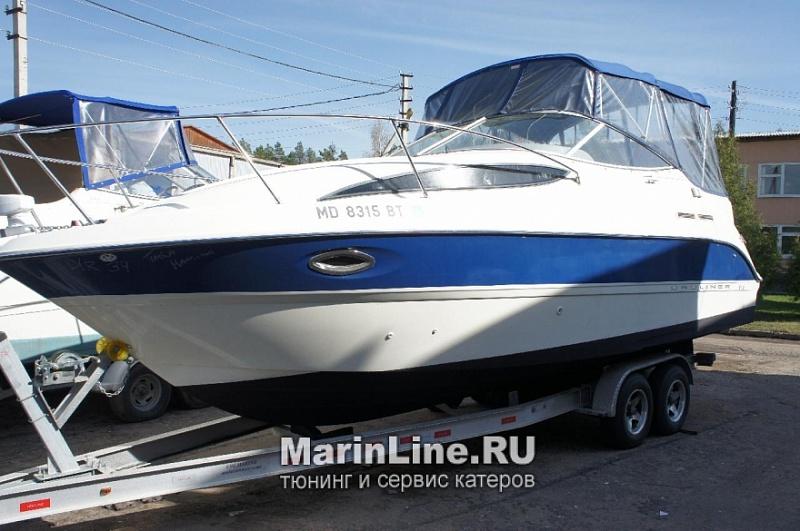 Ходовой тент на лодку и катер цена в компании «МаринЛайн». Ссылка на фотографию: http://marinline.ru/uploads/posts/2018-06/1528915651_hodovyie-tentyi-na-kater-hodovoy-tent-31.jpg