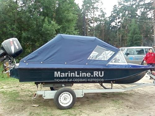 Ходовой тент на лодку и катер цена в компании «МаринЛайн». Ссылка на фотографию: http://marinline.ru/uploads/posts/2018-06/1528915651_hodovyie-tentyi-na-kater-hodovoy-tent-4.jpg
