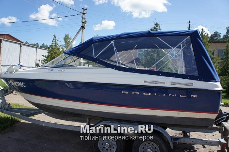 Ходовой тент на лодку и катер цена в компании «МаринЛайн». Ссылка на фотографию: http://marinline.ru/uploads/posts/2018-06/1528915652_hodovyie-tentyi-na-kater-hodovoy-tent-42n.jpg