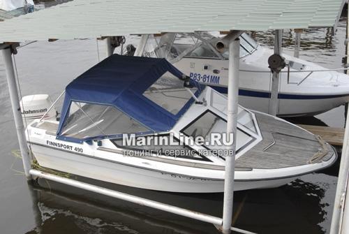 Ходовой тент на лодку и катер цена в компании «МаринЛайн». Ссылка на фотографию: http://marinline.ru/uploads/posts/2018-06/1528915657_hodovyie-tentyi-na-kater-hodovoy-tent-16.jpg