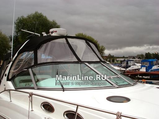 Ходовой тент на лодку и катер цена в компании «МаринЛайн». Ссылка на фотографию: http://marinline.ru/uploads/posts/2018-06/1528915675_hodovyie-tentyi-na-kater-hodovoy-tent-28.jpg