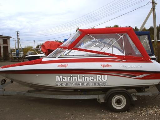Ходовой тент на лодку и катер цена в компании «МаринЛайн». Ссылка на фотографию: http://marinline.ru/uploads/posts/2018-06/1528915678_hodovyie-tentyi-na-kater-hodovoy-tent-18.jpg