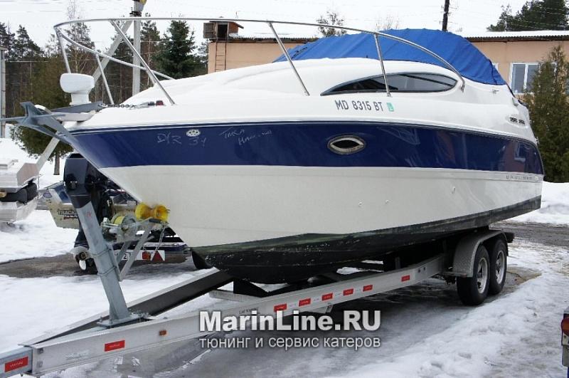 Ходовой тент на лодку и катер цена в компании «МаринЛайн». Ссылка на фотографию: http://marinline.ru/uploads/posts/2018-06/1528915678_hodovyie-tentyi-na-kater-hodovoy-tent-29.jpg