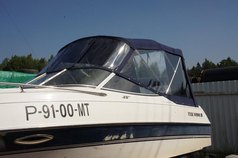 Ходовой тент на лодку и катер цена в компании «МаринЛайн». Ссылка на фотографию: http://marinline.ru/uploads/posts/2018-06/1528915683_hodovyie-tentyi-na-kater-hodovoy-tent-77.jpg