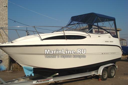 Ходовой тент на лодку и катер цена в компании «МаринЛайн». Ссылка на фотографию: http://marinline.ru/uploads/posts/2018-06/1528915701_hodovyie-tentyi-na-kater-hodovoy-tent-17.jpg