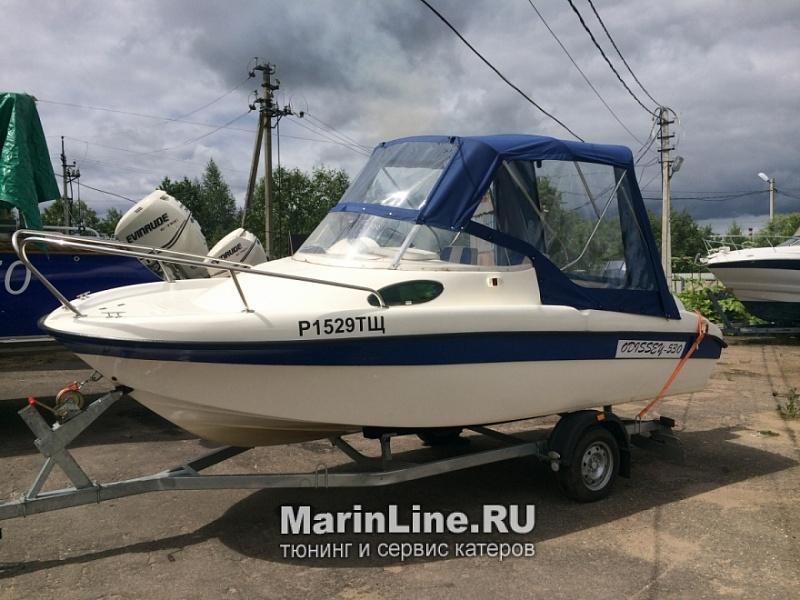 Ходовой тент на лодку и катер цена в компании «МаринЛайн». Ссылка на фотографию: http://marinline.ru/uploads/posts/2018-06/1528915704_hodovyie-tentyi-na-kater-hodovoy-tent-50.jpg