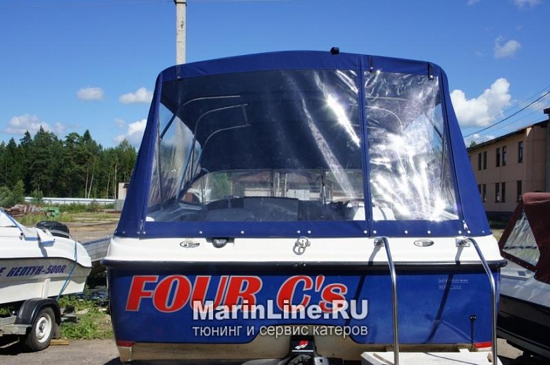 Ходовой тент на лодку и катер цена в компании «МаринЛайн». Ссылка на фотографию: http://marinline.ru/uploads/posts/2018-06/1528915706_hodovyie-tentyi-na-kater-hodovoy-tent-41.jpg