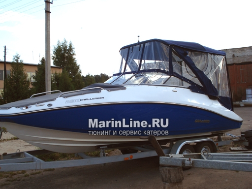 Ходовой тент на лодку и катер цена в компании «МаринЛайн». Ссылка на фотографию: http://marinline.ru/uploads/posts/2018-06/1528915707_hodovyie-tentyi-na-kater-hodovoy-tent-20.jpg
