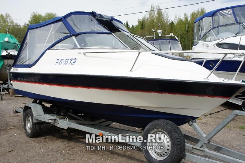Ходовой тент на лодку и катер цена в компании «МаринЛайн». Ссылка на фотографию: http://marinline.ru/uploads/posts/2018-06/1528915709_hodovyie-tentyi-na-kater-hodovoy-tent-34.jpg