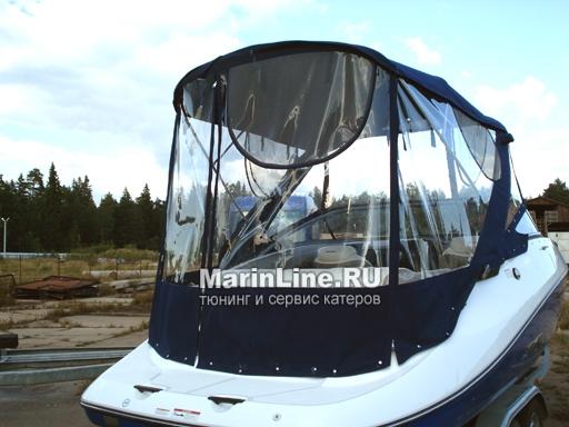 Ходовой тент на лодку и катер цена в компании «МаринЛайн». Ссылка на фотографию: http://marinline.ru/uploads/posts/2018-06/1528915711_hodovyie-tentyi-na-kater-hodovoy-tent-21.jpg
