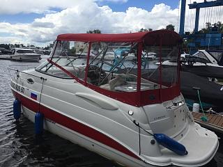 Ходовой тент на лодку и катер цена в компании «МаринЛайн». Ссылка на фотографию: http://marinline.ru/uploads/posts/2018-06/1528915712_hodovyie-tentyi-na-kater-hodovoy-tent-1.jpg