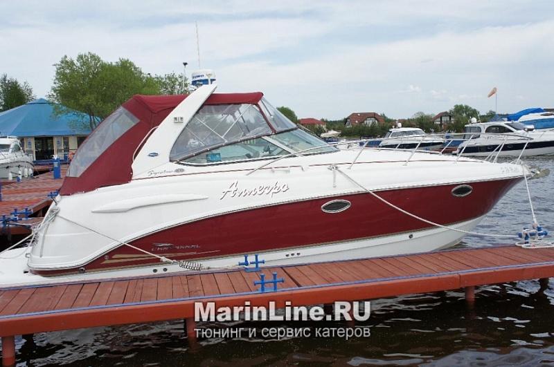 Ходовой тент на лодку и катер цена в компании «МаринЛайн». Ссылка на фотографию: http://marinline.ru/uploads/posts/2018-06/1528915716_hodovyie-tentyi-na-kater-hodovoy-tent-36.jpg