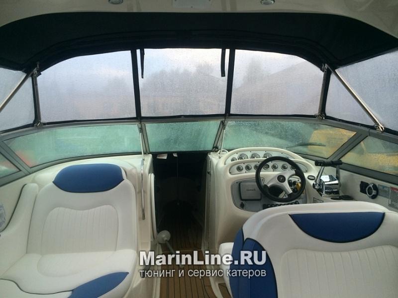 Перетяжка салона катера - отделка интерьера катера цена в компании «МаринЛайн». Ссылка на фотографию: http://marinline.ru/uploads/posts/2018-08/1534156045_otdelka-salona-katera3.jpg
