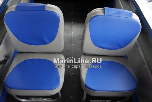 Перетяжка салона катера - отделка интерьера катера цена в компании «МаринЛайн». Ссылка на фотографию: http://marinline.ru/uploads/posts/2018-08/1534156117_otdelka-salona-katera11.jpg