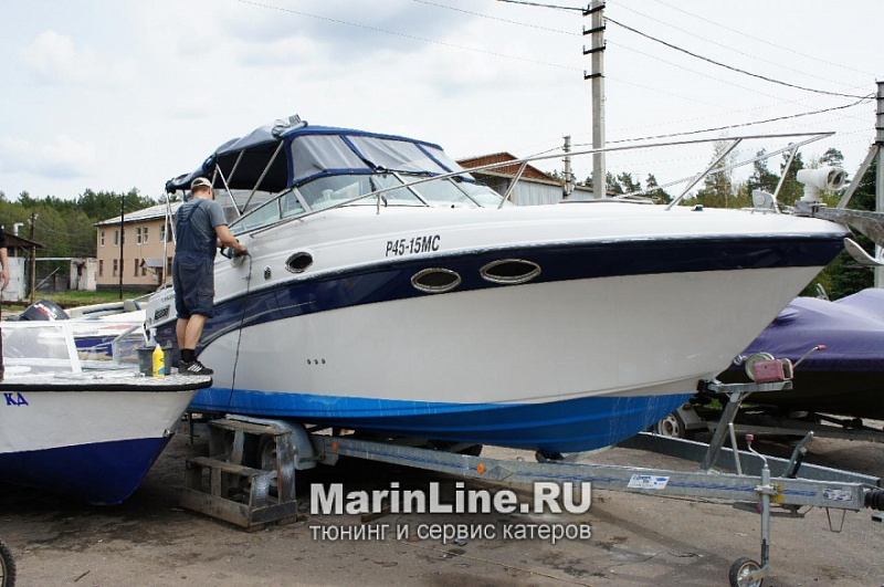 Полировка катера цена в компании «МаринЛайн». Ссылка на фотографию: http://marinline.ru/uploads/posts/2018-08/1534156959_polirovka-katerov-3.jpeg