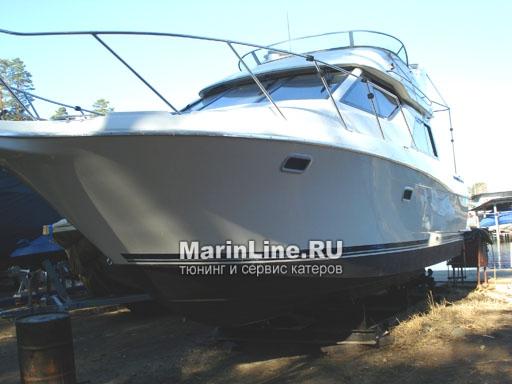 Полировка катера цена в компании «МаринЛайн». Ссылка на фотографию: http://marinline.ru/uploads/posts/2018-08/1534156966_polirovka-katerov-4.jpg